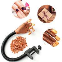 1 stücke Professionelle Praxis Hand Nagel Tipps Nagel Kunst Hände Werkzeug Einstellbare Nail art Modell Hände DIY Maniküre Werkzeug Für ausbildung