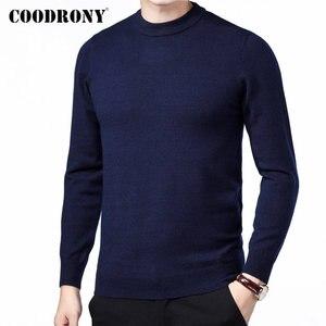 Image 2 - COODRONY marque Pull hommes automne hiver épais chaud Pull Homme classique décontracté col rond Pull hommes cachemire laine tricots 91109