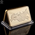 Russia USSR National Emblem Gold Bullion Bar Soviet Commemorative Souvenir Medallion Coin Collection