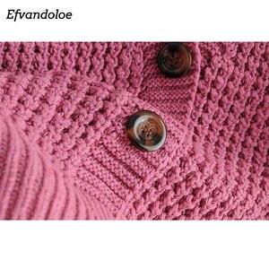 Image 5 - Efvandoloe סתיו קרדיגן סוודר נשים חורף בגדי Kardigan סרוג סתיו 2020 סוודרים נקבה Jumper מעיל