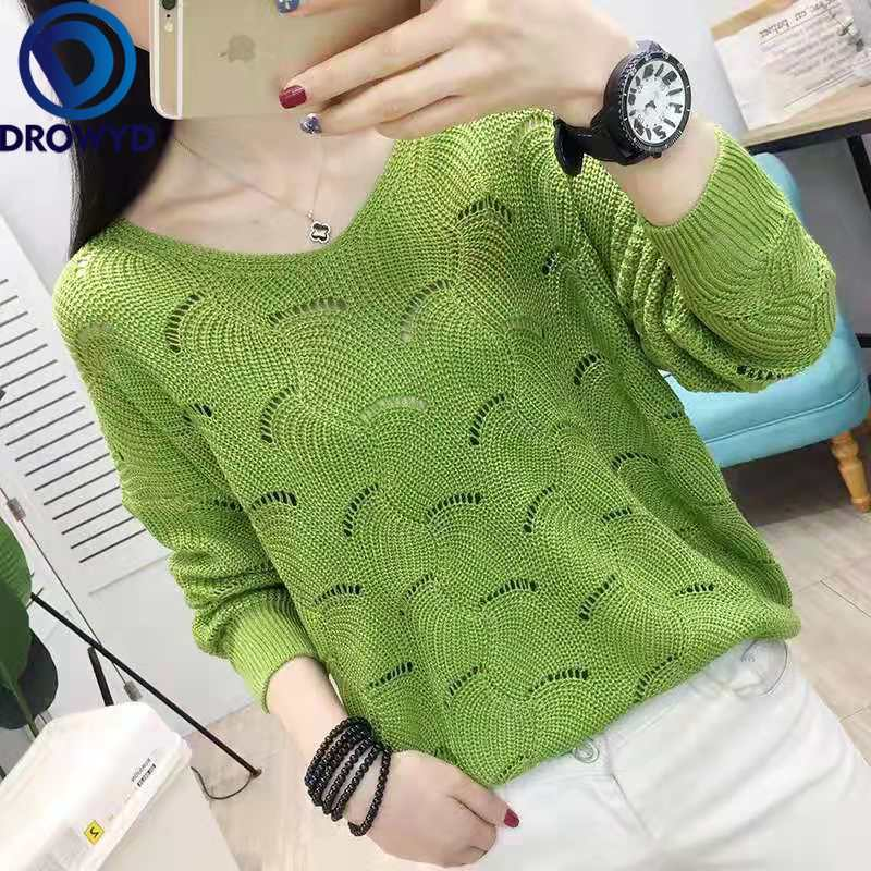Fashion Pullovers Sexy Sweater Women Fall Soft Cotton Loose V neck Knitted Hot Tide Thin Winter Korean Casual Simple Chic Tops