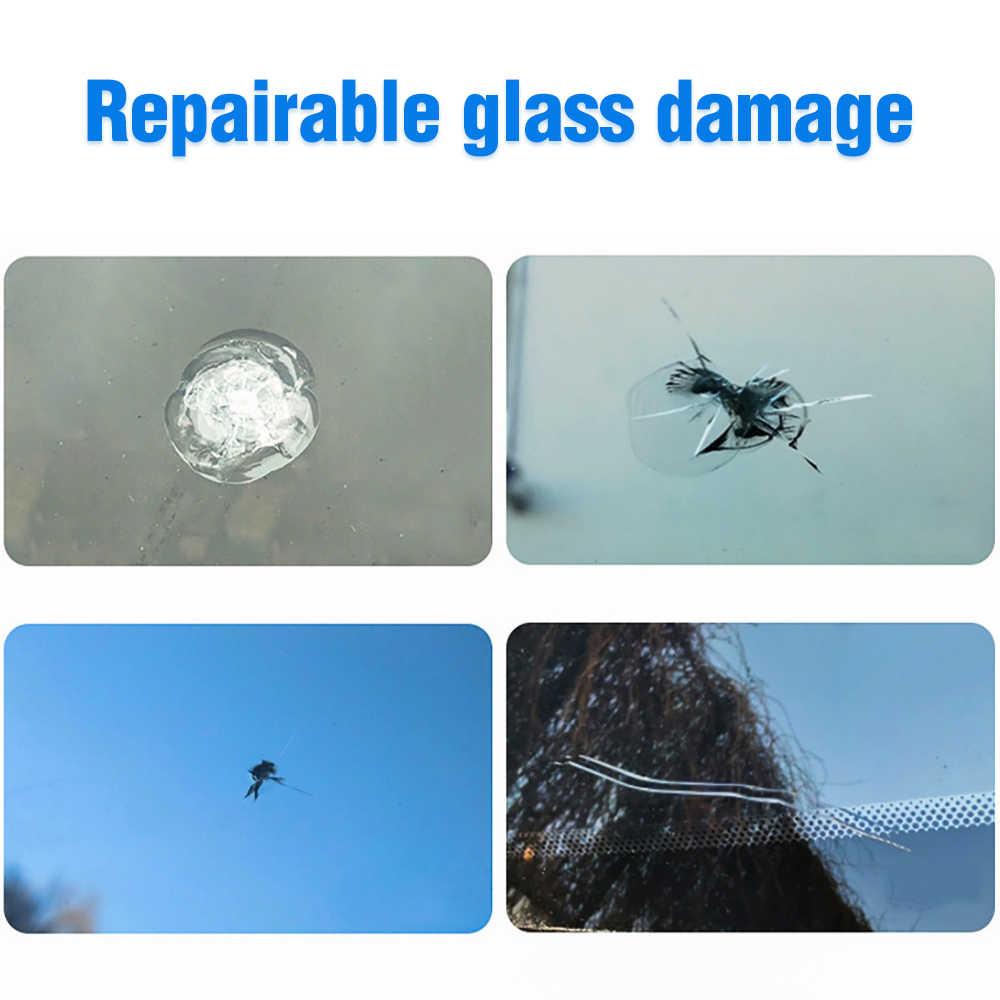 زجاج سيارة أداة إصلاح ألواح رسومات للسيارات يمكنك تركيبها بنفسك نافذة أدوات إصلاح زجاج النافذة علاج الغراء السيارات الزجاج خدش الكراك استعادة عدة