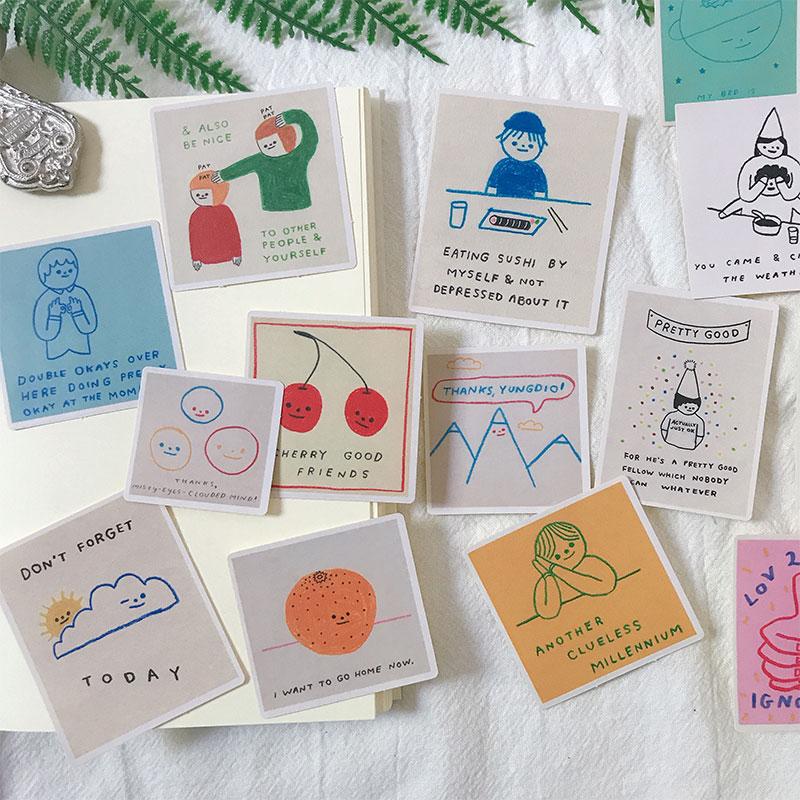 15pcs Happy Good Friends Stickers Crafts Scrapbooking Stickers Book Student Label Decorative Sticker DIY Stationery