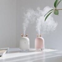 Umidificador de ar portátil criativo min elk coelho usb purificador de ar ambientador limão led night light aromaterapia difusor névoa fazer|  -
