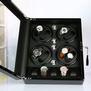 Image 5 - FRUCASE Schwarz hohe fertig Automatische Uhr Wickler uhr schmuck schrank display box kollektor speicher Stille in bett zimmer
