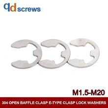 304 M1.5M2.5M3M4M5M6M7M8M9M10M12M15M16M20 open baffle clasp E-type washer Lock washers DIN6799