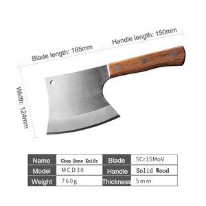 Image 5 - سكين مطبخ 6.5 بوصة الثقيلة ختم العظام سكين جزار السكاكين مقبض خشب 5CR15 الفولاذ المقاوم للصدأ