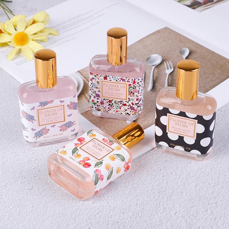 4 Flavors Spray Perfume 30ml Fragrance Body Mist Naturally Fresh Perfume