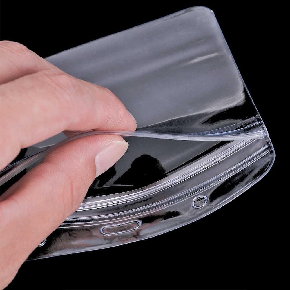 10 teile/los PVC Kunststoff Transparent ID Karte Abzeichen Halter Klar Ausstellung Bank Karte Tasche Inhaber Büro Schule Schreibwaren Versorgung