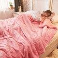 Розовые флисовые одеяла и одеяла принцессы для взрослых  толстые теплые зимние одеяла для дома  супер мягкое одеяло  роскошное одеяло на дву...