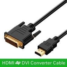 2M HDMI do DVI DVI D kabel 24 + 1 pin przewody adaptery 1080p dla LCD DVD HDTV XBOX PS3 kabel HDMI o dużej szybkości transmisji kabel