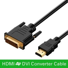 2M HDMI vers DVI DVI D câble 24 + 1 broches adaptateur câbles 1080p pour LCD DVD HDTV XBOX PS3 haute vitesse hdmi câble