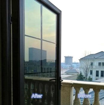 40/50/60/70/80/90x500 Cm Self-adhesive One Way Mirror Window Film,Vinyl Reflective Solar film Privacy Tint for Home