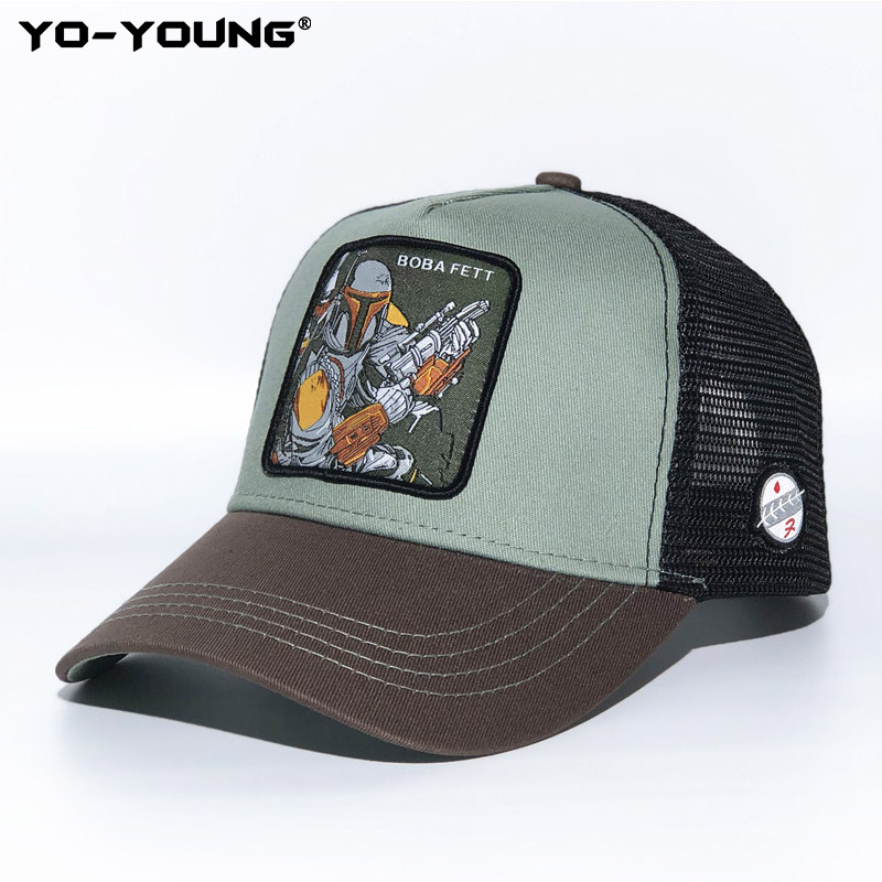 Yo-Young Baseball Cap For Men Women Star Wars Darth Vadar Stormtrooper Caps Mandalorian Snapback Baseball Cap Sun Hat 53-59 Cm