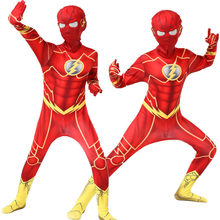 The Flash Costume Cosplay Kids Halloween Costume for Kids Carnival Party Suit
