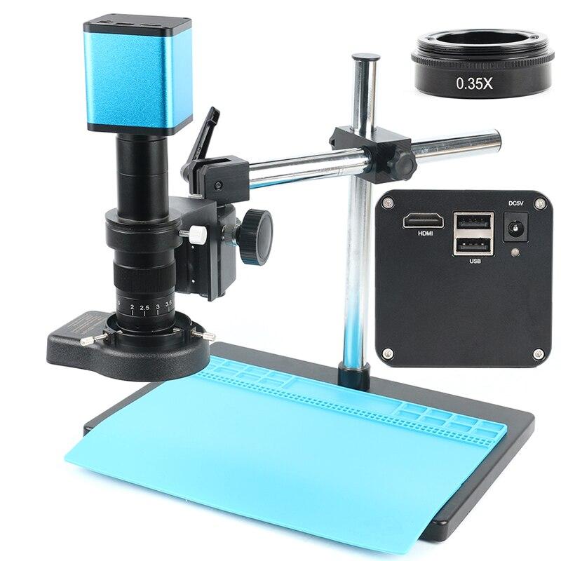 Autofocus 1080P SONY capteur IMX29 mesure C montage vidéo Microscope caméra U disque enregistreur + 180X C monture lentille pour PCB soudure