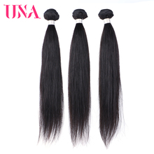 UNA Indian Hair Bundles 3 Pieces Pack Straight Hair Remy Natural Hair Weft Human Hair Weave Bundles 8 Inches to 28 Inches aisi hair t27613 6 inches