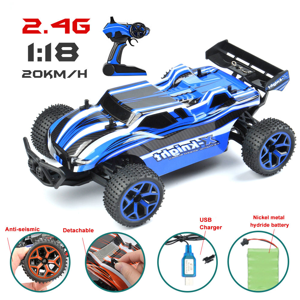 1/18 RC Car 4WD 2.4G Double Motors Drive Buggy Model Off-Road Car Remote Control Car For Children
