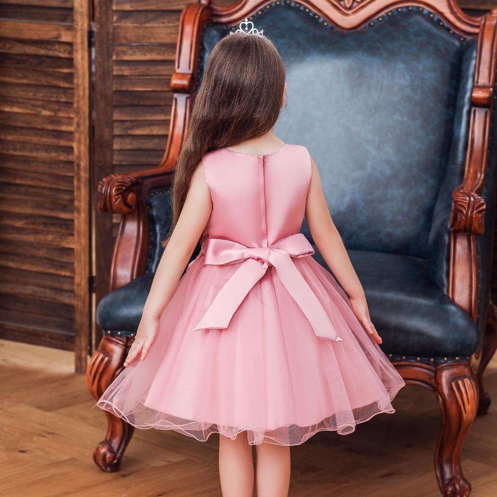2019 Autumn New Style INS Princess Mesh Skirt Lace Flower Children Dress Wedding Dress