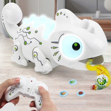 Remote control toy chameleon & Tyrannosaurus 12 kinds of lighting effects and predation
