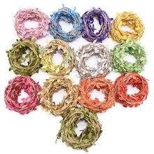 2/5/10m juta corda folha em forma de fita presente diy embrulhando juta corda serapilheira rústico diy decoração de casamento em forma de folha de rattan corda