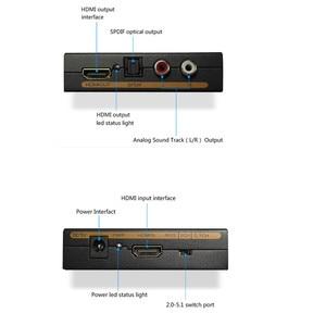 Image 2 - HDMI аудио экстрактор конвертер 5.1CH аудио сплиттер 1080P Стерео аналоговый HDMI в HDMI Оптический SPDIF RCA L/R адаптеры Конвертеры