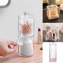 Прозрачная коробка для хранения макияжа ватные тампоны органайзер