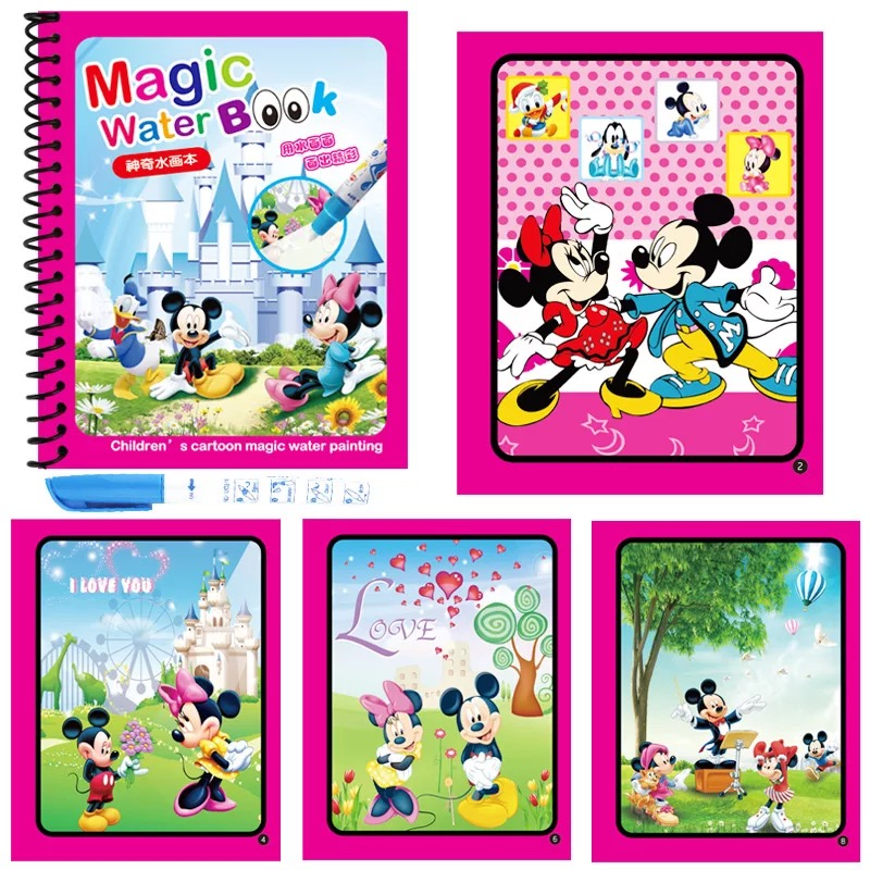 Magic Water Drawing Book Coloring Book Doodle & Magic Pen Painting Drawing Board Birthday Gift  For Kids Toys