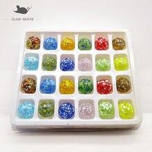 24 шт ручной работы стеклянные Мраморные Шарики 16 мм красочное