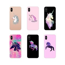 For Apple iPhone X XR XS 11Pro MAX 4S 5S 5C SE 6S 7 8 Plus ipod touch 5 6 Accessories Shell Cover colorful Rainbow Unicorn Horse(China)