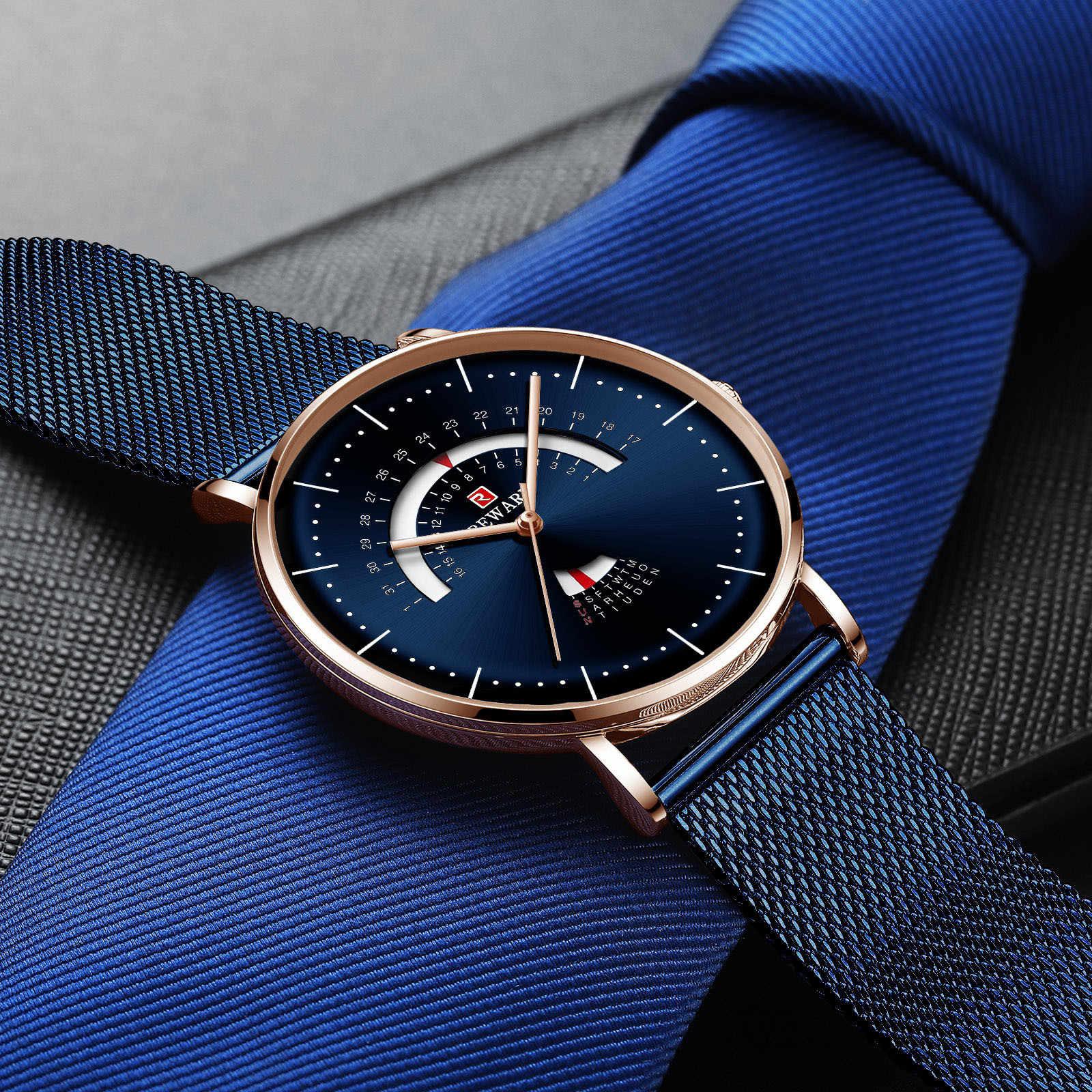 Mens שעוני אופנה אוטומטי תאריך קוורץ שעון גברים זהב פלדת עסקים Mens יצירתי שעונים מותג שעון Relogio Masculino
