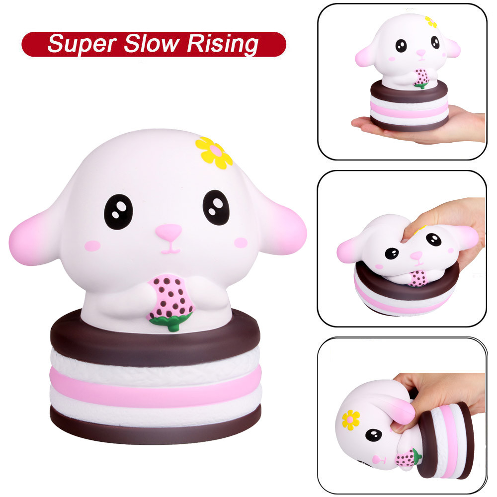Cute Rabbit Healing Fun Kids Kawaii Toy Stress Reliever Decor Rubber Squish Antistress Scented Stress Relief Toy L0116