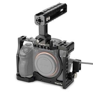 Image 1 - Klatka operatorska MAGICRIG z uchwytem NATO + zacisk kablowy HDMI do Sony A7RIII /A7III /A7SII /A7RII /A7II /A7M3 zestaw do przedłużania rzęs