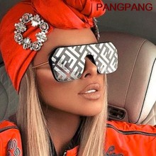 2021 occhiali da sole quadrati oversize FF donna Luxury Brand Fashion Flat Top One Piece occhiali da sole uomo Gafas Shade Mirror UV400