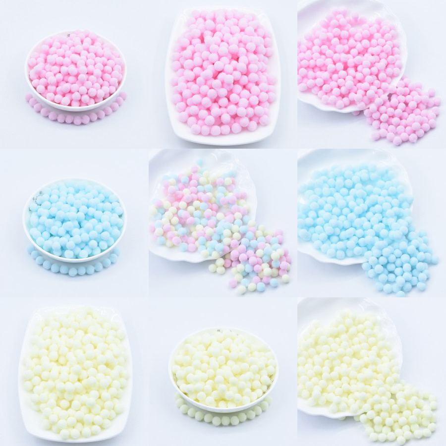 Light Yellow Pink Blue Pompom Fur Balls DIY Soft Pom Poms Craft Pompones Wedding Decor Glue On Cloth Accessories 8mm To 30mm