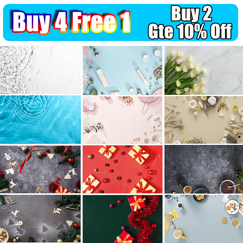 3D Christmas photo background 57 * 87cm 2 sides  Photo studio Photography backdrops photography props