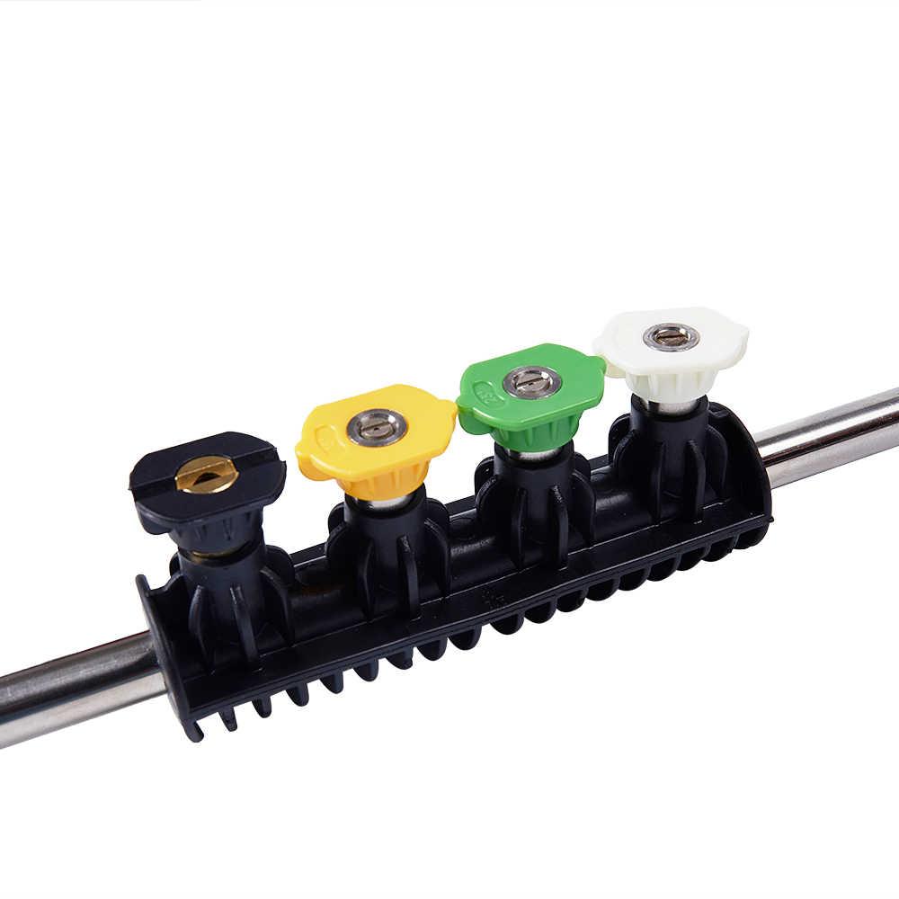 Hoge Druk de Auto Wasmachine Metalen Jet Lance Mondstuk Spuitpistool Extension Wand Met 5 Snelle Verbinding Nozzle Voor Car Cleaning