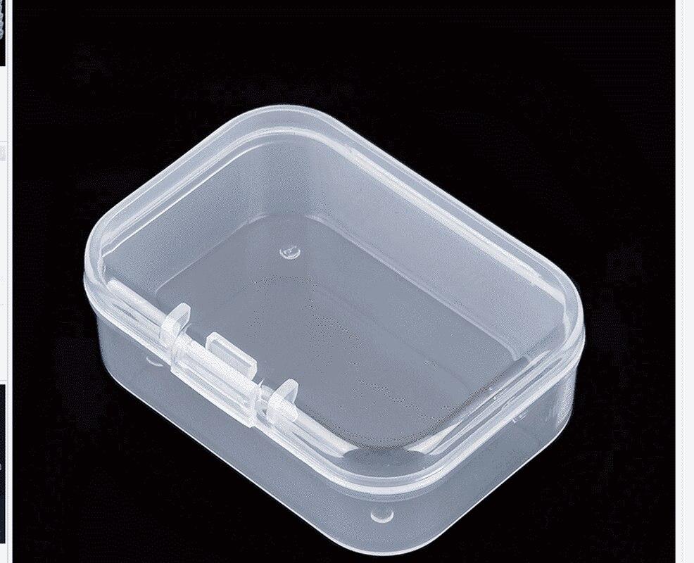 4 boyutları şeffaf kapaklı küçük plastik kutu Trifles parçaları araçları saklama kutusu takı ekran kutusu vida boncuk konteyner yeni