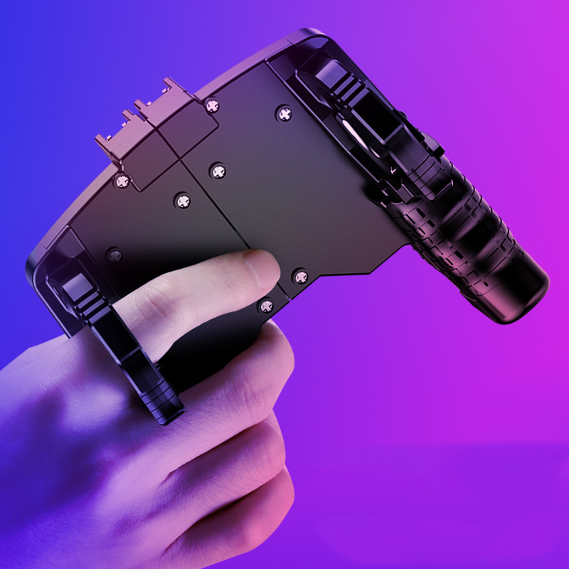 New pubg mobile gamepad eating chicken artifact four-finger linkage gamepad is suitable for pubg mobile quick shooting button