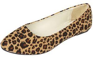 YEELOCA 2020 kobiet płaskie buty wsuwane buty wzór w cętki buty na co dzień pojedyncze buty baleriny dziewczyny XS09025