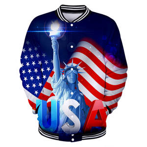 Hot Sales America Independence Day Related Products Trend Personalized Casual 3D Baseball