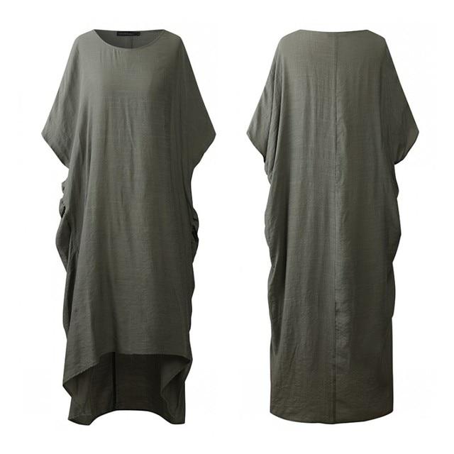 Fashion Ruffle Dress Women s Summer Sundress ZANZEA Casual O Neck Maxi Vestidos Sarafans Female Tank Robe Femme Oversized