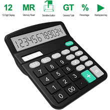 Office Handheld Desktop Calculator Dual Solar Power Business Accounts Pink
