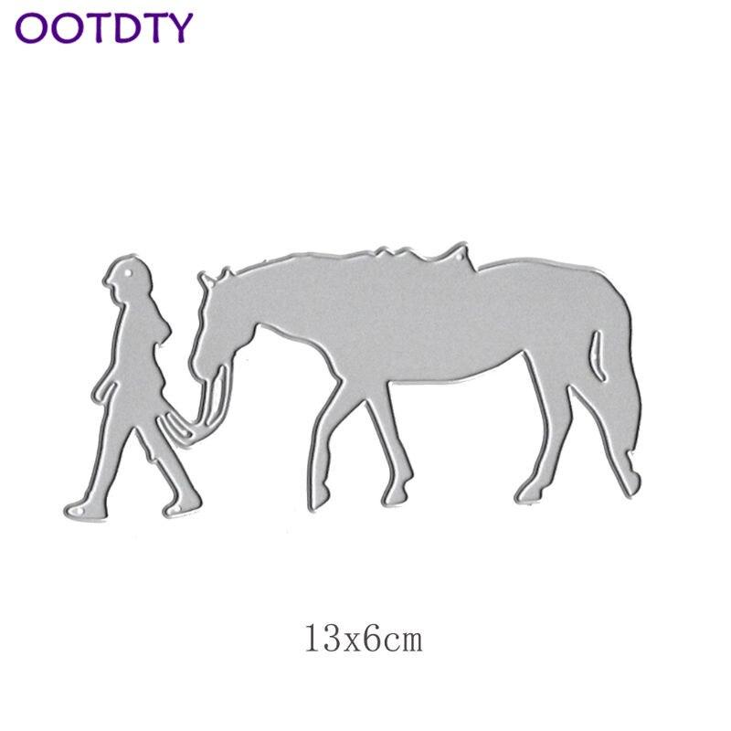 Pulling Horse Metal Cutting Dies Stencil DIY Scrapbooking Album Stamp Paper Card