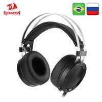 Redragon scylla h901 gaming headset gamer para pc ps4 interruptor telefone surround pro computador com fio fones de ouvido estéreo com microfone