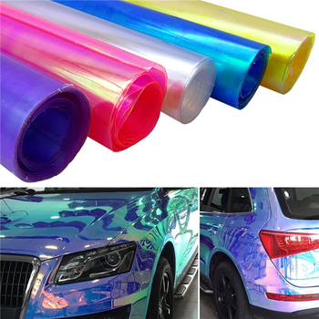 30X60CM Car Styling Chameleon Headlight Taillight Vinyl Tint Car Sticker Light Film Protect Wrap Car Light Accessories car styling decoration 1pc 12x78 chameleon clear car headlight tail fog light vinyl tint film wrap uv protector