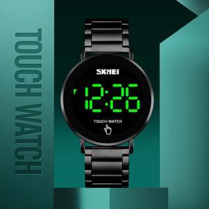 Image 4 - SKMEI นาฬิกาผู้ชายดิจิตอลนาฬิกา Luxury หน้าจอสัมผัสจอแสดงผล LED นาฬิกาข้อมืออิเล็กทรอนิกส์สแตนเลสผู้ชายนาฬิกาผู้ชาย