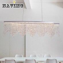 Итальянский постсовременный минималистичный скандинавский светодиодный декоративный светильник с кристаллами для кухонного обеденного освещения