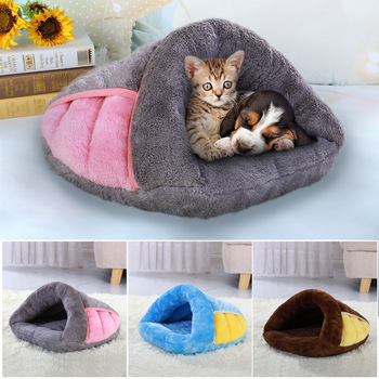 Warm Cat Bed Pet Puppy Cat House Winter Dog Cat Cushion Mat Indoor Basket Cave Kennel Nest Cats Products For Pets Cama de Gato 1