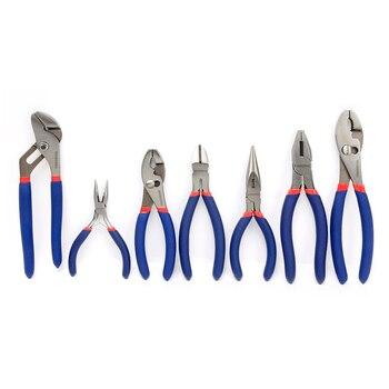 WORKPRO 7PC Electrician Pliers Wire Cable Cutter Plier Set Plumbing Plier Long Nose Plier